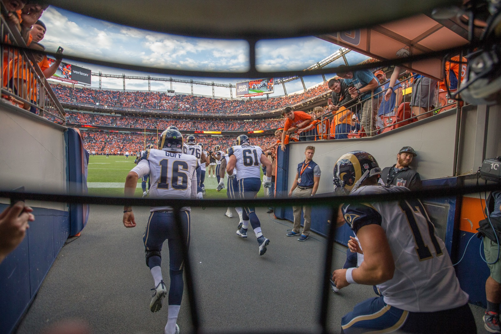 Capturing Football in Action: Photographing the L.A. Rams