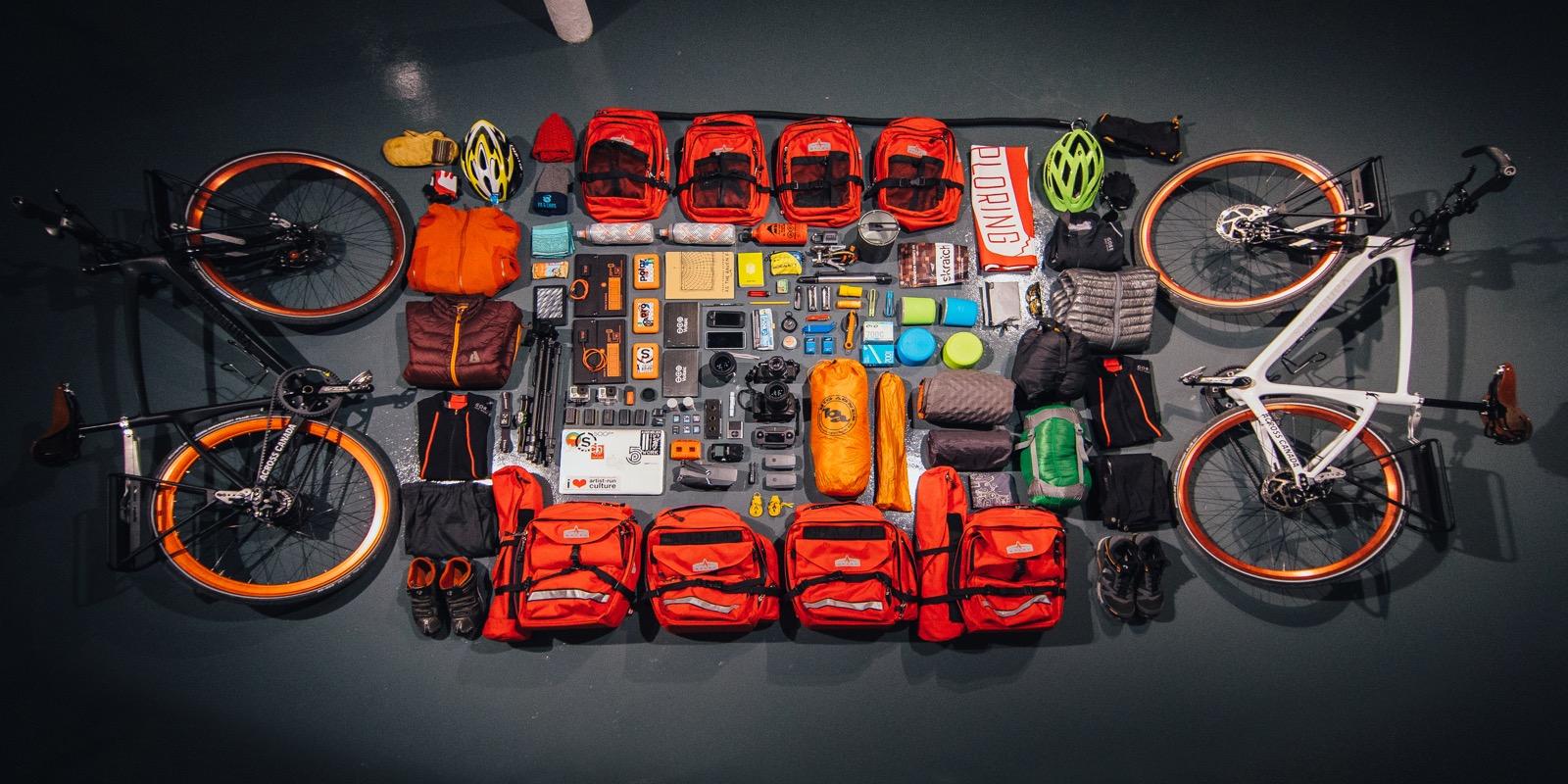 Jonathon-Reed-Asad-Chishti-Cycling-Across-Canada-Gear