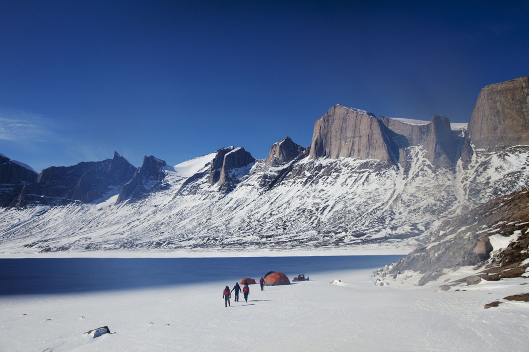 A small team of BASE jumpers leave their temporary campsite in Stewart Valley in pursuit of discovering a brand new BASE jump site on Baffin Island.