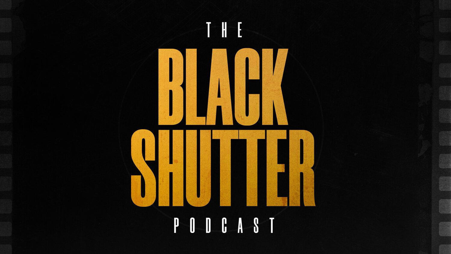 The black shutter podcast logo
