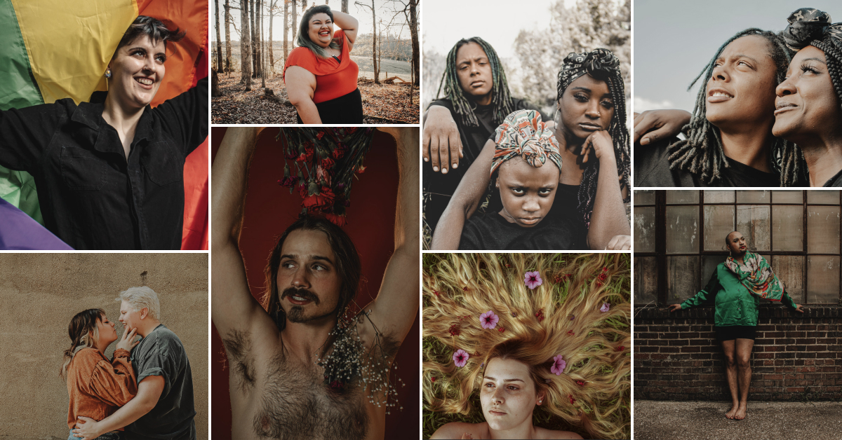 Collage of images showing the LGBTQ community